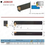 MZG JSDN3CR1212K07 12*12 16*16 Small Parts Processing Tool Holders Straight Cutting Toolholder Metal Parting Before Turning Bar
