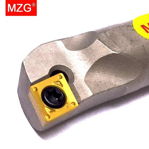 MZG 10mm 12mm SCLCR06 Internal High Speed Steel Shockproof Toolholder CNC Lathe Machining Turning Boring Tool