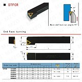 MZG CNC 10mm 16mm STFCR1616H16 External Turning Tool Lathe Cutter Bar TCMT Carbide Inserts Boring Arbor Clamped Steel Toolholder