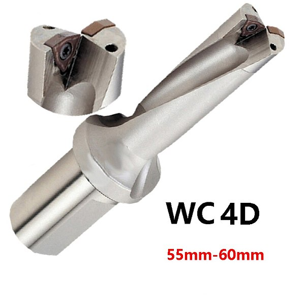 Factory Outlet U Drill 4D WC C40 56mm-60mm Indexable Insert Drill Bit Tool Lathe Metal Drilling Tools for WCMT Carbide Insert