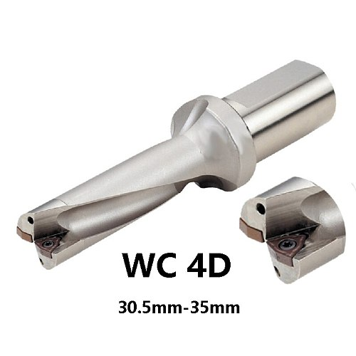 BEYOND U Drill 4D WC C25 30.5mm-35mm Indexable Insert Drill Bit Tool Lathe Metal Drilling Tools for WCMT Insert Factory Outlet