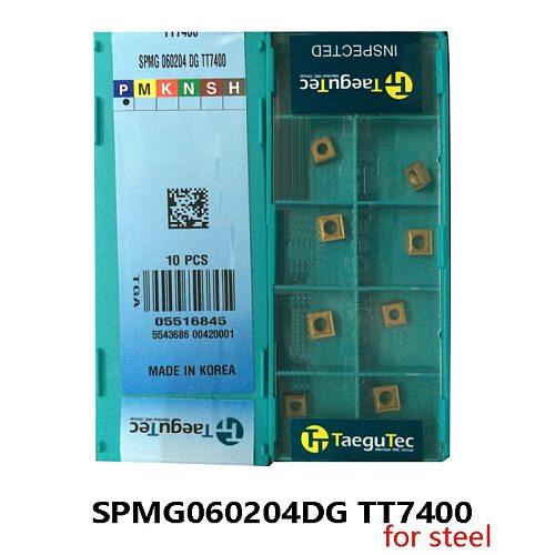Original SPMG060204DG TT7400 Carbide Inserts for U Drill SPMG060204 DG SPMG 060204 processing Steel Lathe Cutter Turning Tools