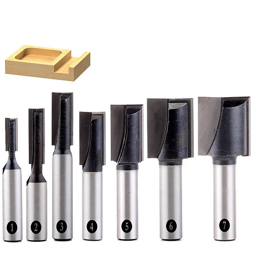1PC 8mm Shank high quality Bottom Cleaning Straight/Dado Router Bit Set 5,6,8,10,12,16,18mm Diameter Wood Cutting Tool - Chwjw
