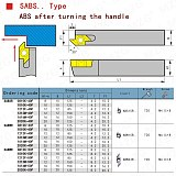 MZG SABWR2020K50F 16*16 20*20 Small Parts Processing Tool Holders After Turning Bar Metal Parting Tool CNC Cutting Toolholders