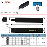 MZG 20*20 25*25 SRDCN CNC Turning Arbor Lathe Cutter Bar External Boring Tool Clamped Steel RCMT Carbide Inserts Toolholder