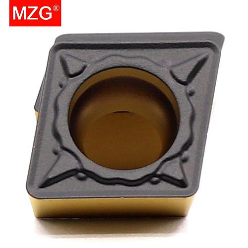 MZG 10pcs CCMT 09T3 08 04 Steel Turning Boring Cutting CNC Lathe Machining Toolholders Solid Tungsten Carbide Inserts