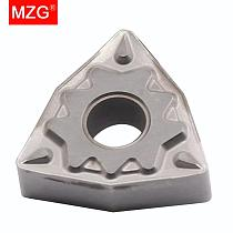 MZG 10pcs WNMG 0804 08 04 HQ ZN60 Cermet Medium Semi-finish Steel Parts  Finish Tungsten Carbide Inserts