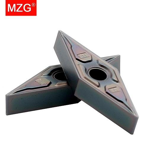 MZG 10pcs VNMG 160404 08 ZP1530 Solid Indexable Carbide Inserts for CNC Titanium Hard Steel Boring Turning Cutting Tools  Holder