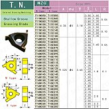 MZG T16N150 T16N175 ZM856 Stainless Steel Shallow Grooving Cutter CNC Lathe Cutting Groove Tools Indexable Solid Carbide Inserts