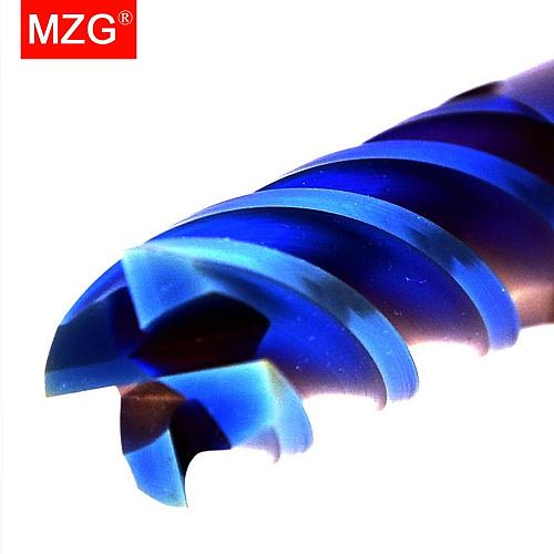 MZG Lengthen End Mill 100L Cutting HRC65 10mm 12mm Metal  Machining Milling Tungsten Steel Milling Cutter