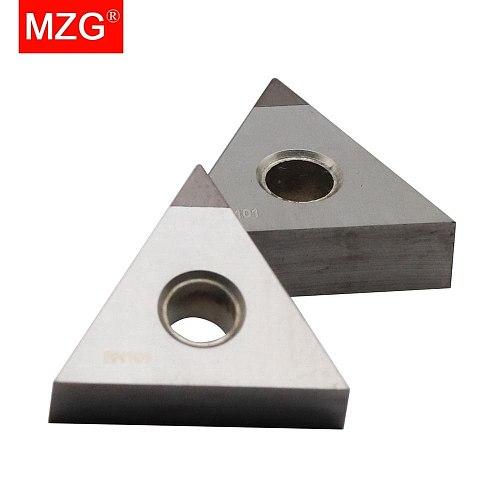 MZG 1 PCS TNMG160404 CBN CNC Cutting Lathe Hard Material Processing Boring Turning WTJN MTJN Tools Triangle Carbide Inserts