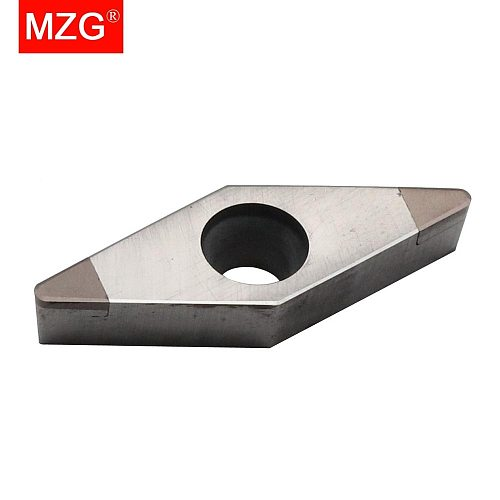 1 PCS MZG VCGW160404 2T CBN CNC Boring Turning Cutting Tool Carbide Insert for High Hardness Processing Holder