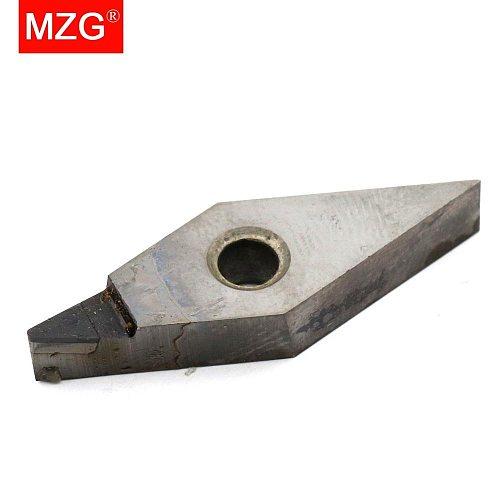 MZG 1 PCS VNGA 160404 PCD CNC Cutting Aluminum Copper Processing Boring Turning Triangle Diamond Insert for MVUN MVJN  Holder