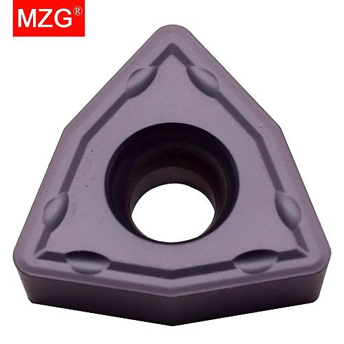 MZG 10pcs WCMX030208 ZP25 Drilling Processing of General Material Stainless Steel Processing Tungsten Milling Carbide Inserts