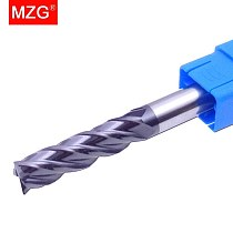 MZG  Lengthen End Mill 75L Cutting HRC55 4 Flute 4mm 6mm 10mm 12mm Alloy Carbide  Tungsten Steel Milling Cutter