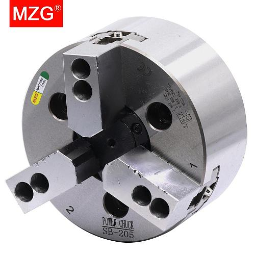MZG SB-210 6 8 10 inch 3 Jaw Hollow Power Chuck for CNC Lathe Boring Cutting Tool Holder Hole Machining