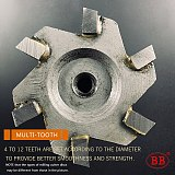 BB Brazed Carbide T Slot Milling Cutter Welding Inlay Insert Alloy Diameter 12 to 80mm Thickness 2mm - 20mm Cast Iron Steel