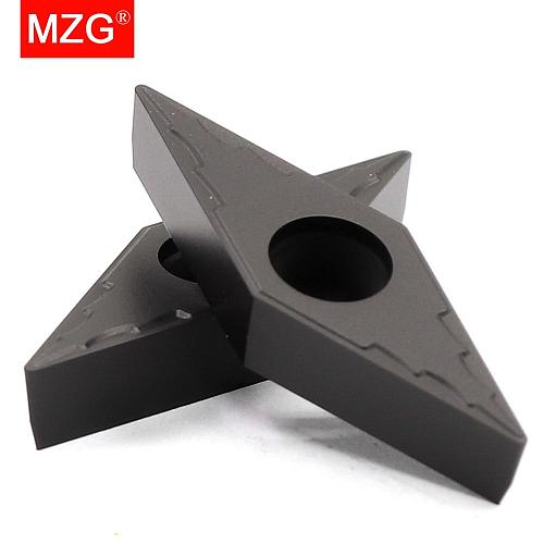 MZG VBMT160404 TF ZC2512 Cutting CNC Lathe Turning Boring Solid Carbide Inserts for Steel Processing SVXB Holder Toolholders