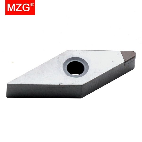 MZG 1 PCS VCGW160404 VCGW080204 CBN Boring Turning CNC Cutting Tool Carbide Insert for High Hardness Processing Holder