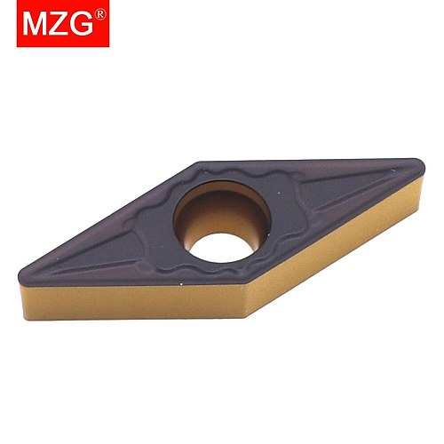 MZG 10PCS VBMT 1604 04 08 ZC32 Steel Turning Boring Cutting CNC Lathe Machining  Solid CVD Coated Carbide Inserts