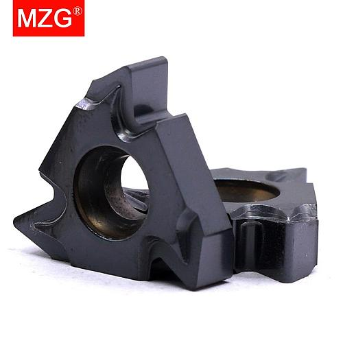 MZG 10PCS 22ER ISO  ZP10 CNC Lathe Stainless Steel Turning External Threading Toolholder Tungsten Carbide Thread Inserts