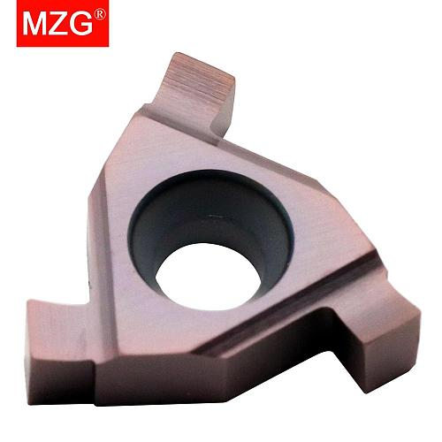 MZG T16E100 T16E200 ZM856 Stainless Steel CNC Lathe Cutting Groove Tools Shallow Grooving Cutter Indexable Solid Carbide Inserts