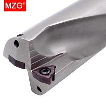 MZG D5 WC Carbide Inserts 16 18 20 25 32 mm U Bits  Hole CNC Lathe Machining Center Abandon Metal Drilling Tools U Fast Drills