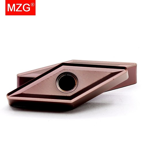 MZG 10PCS VNMG 1604 08 08 ZP1521 Solid Indexable Carbide Inserts for CNC Stainless Steel Boring Turning Cutting Tools  Holder