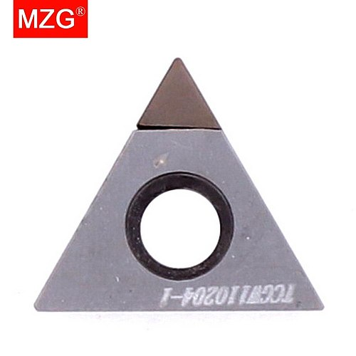 MZG TCGW16T304 CBN CNC Cutting Lathe TCGW Hard Material Processing Boring Turning STFC Tools Triangle Carbide Inserts