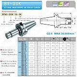 MZG BT30-GSK10-60 BT30 High Precision Milling Cutter Toolholders for  Milling Machining Tools Vertical End Mill Drilling Bar
