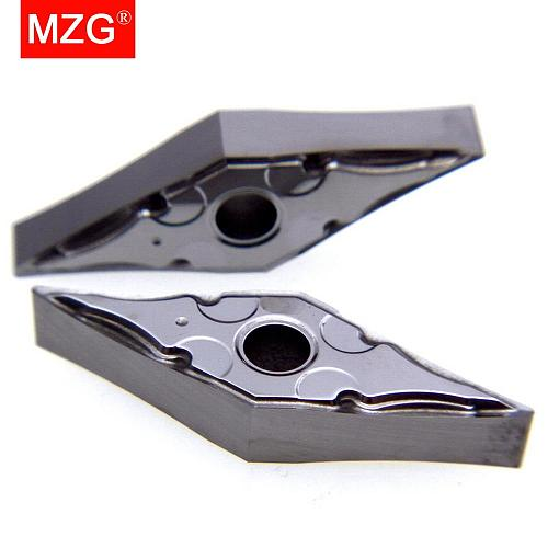 MZG VNMG 160402 160404Z ZPW10 Solid Indexable Carbide Inserts for CNC Aluminum Copper Boring Tools Turning Cutting Holder