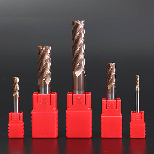 Cutting HRC60 4 Flute Alloy Carbide Tungsten Steel Milling Cutter End Mill Metal Cutter Cnc Tools 4mm 5mm 6mm 8mm 10mm 12mm