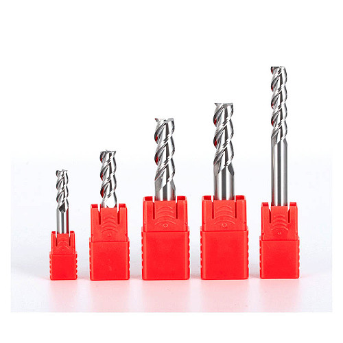HRC55 3 Flutes End mill Tungsten Steel Tool for Aluminum Cnc Maching 3 Blade Endmills Top Milling Cutter Wood Milling Cutter