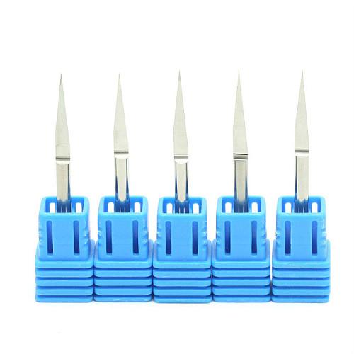 10 pcs/lot 3.175mm 10 Degree 0.1mm Milling Cutters High Quality Flat Bottom Cutting Tool Bits V Shape Carbide Engraving Tools