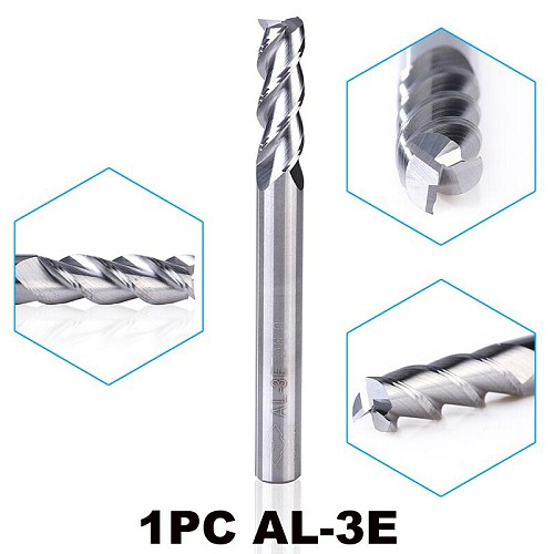 1PC ZCC.CT AL-3E D1.0-D20.0 solid carbide 3 flute flattened end mills cnc tungsten alloy milling cutter for aluminum cutting