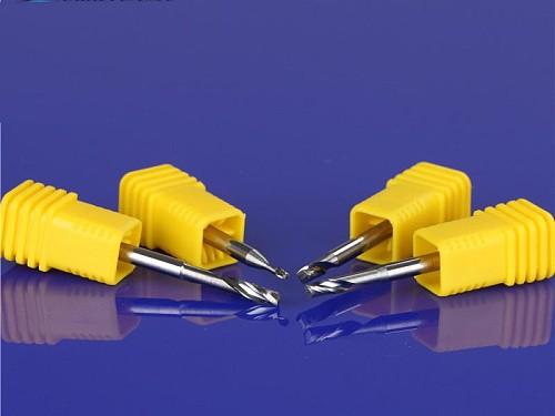 10PCS Single Flute Milling cutters for Aluminum CNC Tools Solid Carbide CNC flat End mills Router bits,aluminum composite panels