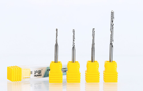 1PC 3.175mm Single Flute Spiral  router bits CNC end mill For MDF Tungsten Carbide Milling Cutter tugster steel cnc tools