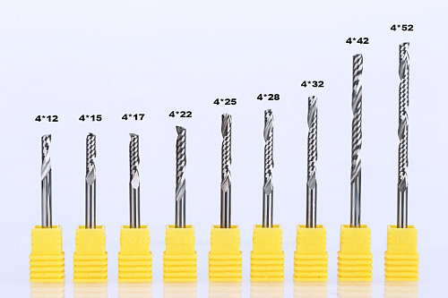 1PC CNC End Mill Shank 4mm One Flute Spiral Cutter Tugster Steel Router Bit For MDF Carbide Milling Cutter For Wood