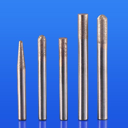 1 pcs 6mm/8mm shank Sintered Stone Router Bit Ball Nose Flat Head Diamond CNC Carving Tools For Granite Marble