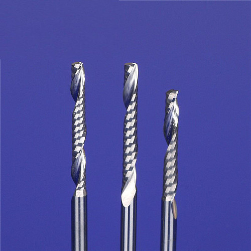 10pcs SHK 3.175mm 4mm Single Flute CNC Router Bits One Flute Spiral End Mills Carbide Milling Cutter Spiral PVC Cutter