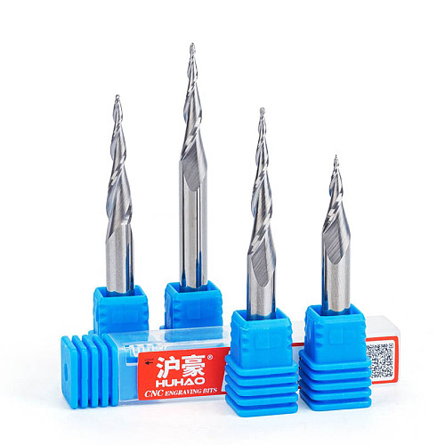 1pc HRC55 6mm shank Tapered Ball Nose End Mill Tapered cone cnc milling cutter engraving bit router bit for wood