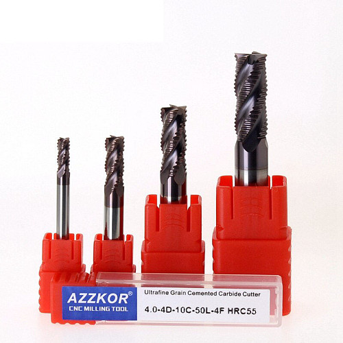 Milling Cutter Alloy Coating Tungsten Steel Tool Cnc Maching 4 Blade Roughing Endmills  Milling Cutter Milling Cutter For Metal