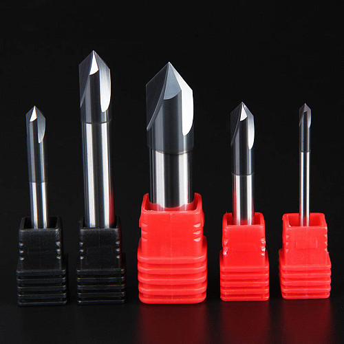 Chamfering Milling Cutter 60 90 120 Degree Coated 3 Flute Chamfer End Mill Carbide CNC Tungsten Steel Milling Cutter Endmill