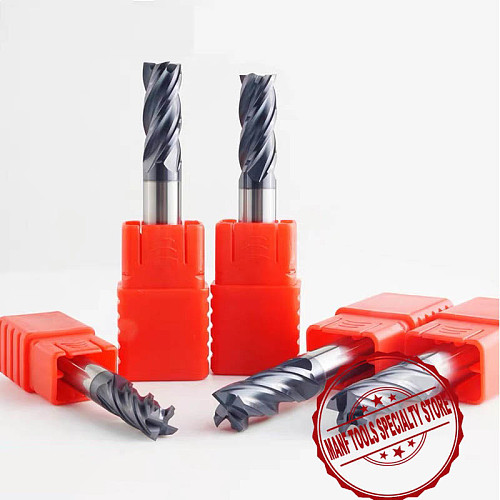 Milling Cutters HRC50 4mm 6mm 8mm 10mm Solid Carbide EndMills Tungsten Carbide End Mills Mill Cutter For Milling
