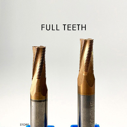 Thread Mill Coated Solid Carbide 3 Tooth Micro ISO Pitch CNC Tool M3 M4 M5 M6 M8 Tap
