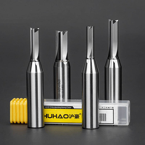 3 Flutes CNC Woodwroking Tool TCT Trimming Straight Milling Cutter Tungsten Steel Router Bit For MDF Plywood Chipboard