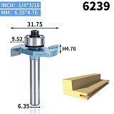 1pcs 1/2 1/4 inch T type bearings wood milling cutter Industrial Grade Rabbeting Bit woodworking tool router bits for wood