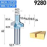 1pc Shank 6mm Cabinet Door Chamfered Endmill Straight Edge Cutting Blade Cleaning Bottom Arcuate Woodworking Router Bits