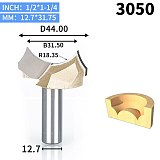 1pcs 1/2  1/4  Shank Bit Point-cut Round Over Groove Bits  router bits for wood engraving cutter woodworking