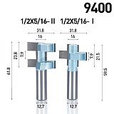 HUHAO 1pc 1/2  Shank Router Bits For Wood  Woodworking Tool Semicircle Mortise  Stitching Knife Floor T - mortis CNC Cutter